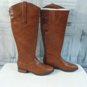 Xappeal Knee High Riding Boots Brown 7M